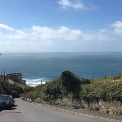 View down the hill to Woolacombe